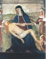 Affresco della lacrimazione, Pietà, inizi del sec. XVI, Rho, Santuario