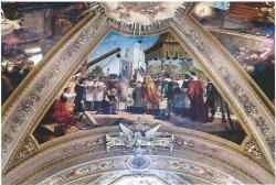 San Carlo benedice la prima pietra del Santuario