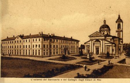 l' Esterno del Santuario e il Collegio degli Oblati