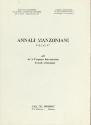 Annali manzoniani. 7: Atti  del 10.  Congresso   internazionale  di  studi   manzoniani