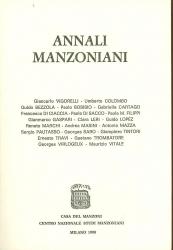 Annali   manzoniani. Prima serie: voll.I-VI (1939/59 e 81)