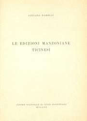 Le edizioni   manzoniane   ticinesi