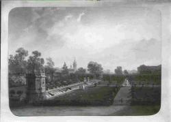 Scenetta galante ambientata nel parco della villa di Lainate
