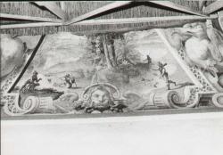 Sala degli specchi: [particolare degli affreschi 2: Lato ovest guardando da destra al centro]