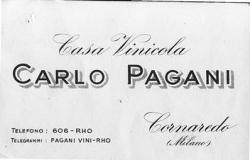 [Cornaredo: vinicola Pagani: biglietto da visita]