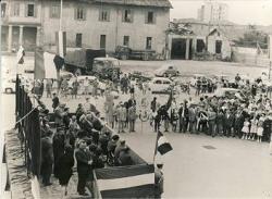 Discorso del sindaco Tagliardi in piazza Libertà a Cornaredo
