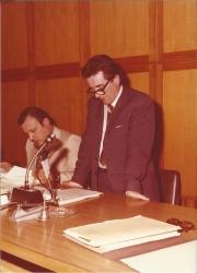 Amministrazione Cassanmagnago 1980-1981: Insediameno del Consiglio Comunale: Cassanmagnago tiene un discorso 2
