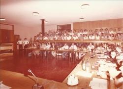 Amministrazione Cassanmagnago 1980-1981: Insediamento del Consiglio Comunale: aula consigliare gremita, in seduta plenaria 3