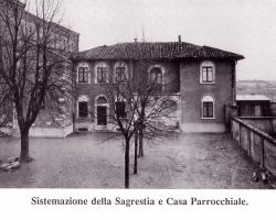 [Mazzo 1954]: Sistemazione della sagrestia e casa parrocchiale