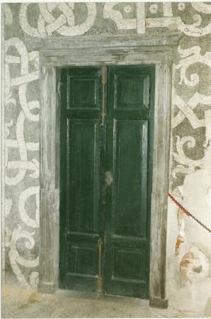 Restauri nella sala di Laocoonte
