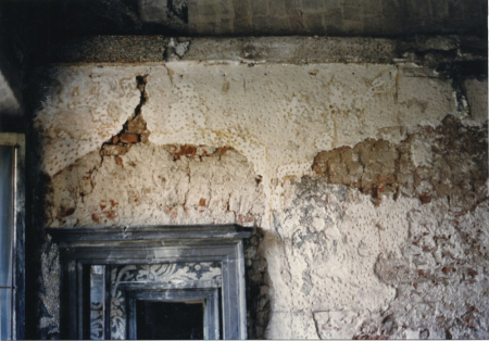 Restauri nella sala del Procaccini